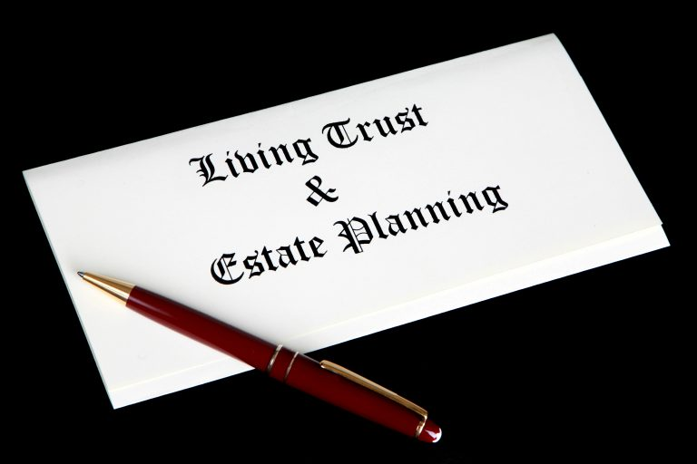 Picture of cover page of Living Trust and Estate Planning